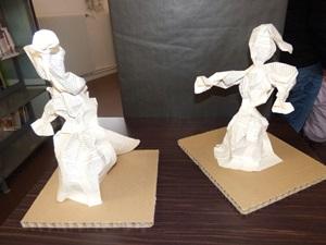 vernissage sculptures papier