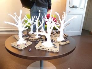 vernissage sculpture papier